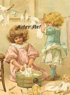 Ernest Nister A Big Wash Reproduction Digital di naturepoet