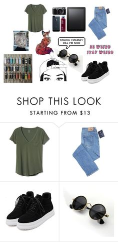 """""""Be weird Stay weird"""" by maryjsullivan ❤ liked on Polyvore featuring Gap and WithChic"""