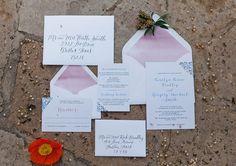 Calligraphy wedding invitations