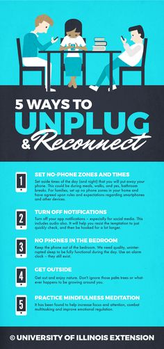 5 Ways to Unplug and Reconnect – great for recent generations struggling with a bit of smart phone addiction!