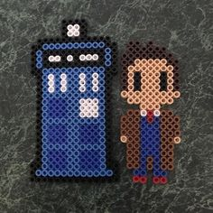 Doctor Who perler beads by meganexplainsitall