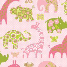 USA Designer Stoff Elefant Giraffe Nilpferd Nashor von handmade by Greta-Marlen auf DaWanda.com