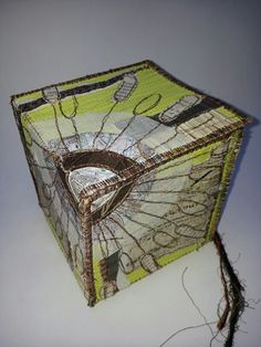 Stitched collage box