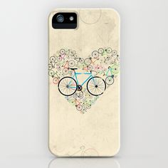 I Love My Bike iPhone Case by Andy Scullion | Society6