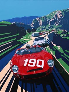 Tim Layzell's Graphic Style Captures Sheer Speed - Petrolicious
