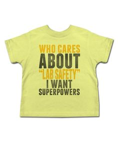 Look at this Banana 'Lab Safety' Tee - Toddler & Kids on #zulily today!