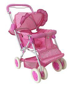 Light Pink Reversible Doll Stroller by Brooklyn Lollipop