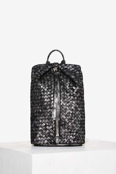 0d8c159d01 Aimee Kestenberg Woven Through the Six Leather Backpack - Black - Bags +  Backpacks