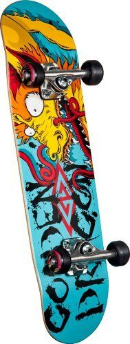 """Powell Golden Dragon Caballero Art Mini Complete Skateboard (7.5-Inch) by Powell. $71.50. Shape: SOC191. All Powell-Peralta products come with a warranty. Length: 28.65"""". Concave: K-16. Wood Type: Birch. Golden Dragon skateboards are made from premium North American hard rock maple or northern hard yellow birch. They are available in two popular shapes and sizes with our K12 concave. Deck Specifications  Wheel Specifications  Truck Specifications  The Complete skateboa..."""