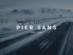 Pier Sans Free Font Modern sans serif typeface