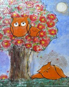 Pomaranczowy Kot: sowia siesta :)