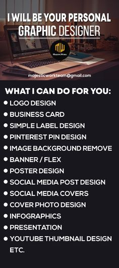 Hi, I'm a professional graphic designer with many years of professional experience. I am an expert with Adobe Photoshop, and Adobe Illustrator. I would love to work with you one on one and be your professional graphic designer. I can do pretty much whatever you want, just ask! Here are just a few things I can do: #Logos #Vectors #Banners #Business #Cards #Graphics #Icons #Postcards #EbookCovers #Magazines #Tshirts #Labels #Photoretouching #Vista #printready #billboarddesign etc. Minimal Business Card, Business Logo, Business Card Design, Business Ideas, Real Estate Business Cards, Free Business Cards, Thumbnail Youtube, Inspiration Logo Design, Thumbnail Design