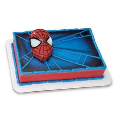 Decopac SpiderMan Light Up Eyes DecoSet Cake Topper: Spidey's eyes light up with bolts of electricity. Approximately on cake. Includes one Spider-Man face with light up eyes. Can be used as a toy after use as a cake topper. Spiderman Cake Topper, Spiderman Theme, 4th Birthday Cakes, Sons Birthday, Birthday Ideas, Birthday Parties, Decorating Tools, Cake Decorating, Cake Kit