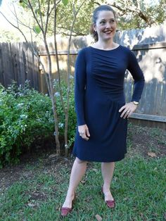 Navy Blue Viscose Knit Dress