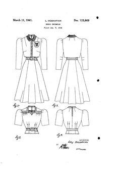 1941 DESIGN FOR A DRESS ENSEMBLE  Lucy Hoshafian