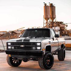 1984 Chevy Truck, 1987 Chevy Silverado, Chevy K10, Lifted Silverado, Chevy Pickup Trucks, Classic Chevy Trucks, Chevrolet Trucks, New Trucks, Cool Trucks