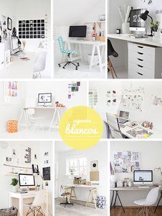 Espacios de trabajo en blanco, inspiradores...