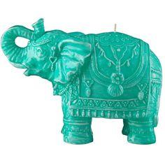 Mario Luca Giusti Home Medium Elephant Candle ($68) ❤ liked on Polyvore featuring home, home decor, candles & candleholders, elephant candle and elephant home decor