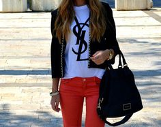 YSL Inspired Logo printed tshirt by personTenth on Etsy, $12.98