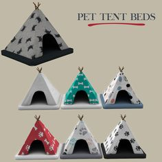Sims 4 CC's - The Best: Pet Tent Beds by Leo Sims