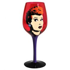 Pop art lucy wine glass....WANT!!
