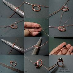 Tutorial-wire wrapped ring Fradany