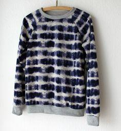 Tie dye sweatshirt | indigo