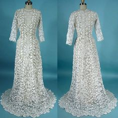 Irish Crochet 1910 gown