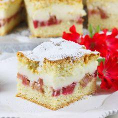 Ciasto z rabarbarem   AniaGotuje.pl Peach Sangria, Polish Recipes, Polish Food, Breakfast Menu, Blueberry Cheesecake, Best Food Ever, Pizza Recipes, Vanilla Cake, Delicious Desserts