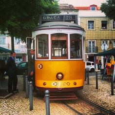 Electrico 28 #Tram28 #Tram #Lisboa #Lisbon Rail Europe, Light Rail, Pixies, Lisbon, Motor, Trains, Beach House, Travelling, Antique