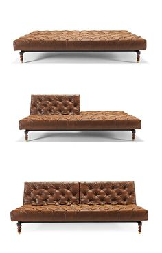 Multifunctionality in a classic sofa. What more could your living room ask for? This sofa features the classic tufted styling with an easy-to-convert sofa bed bonus. High-class, and high-function, too! - Futura Home Decorating Lounge, Sofa Bed Brown, Cool Furniture, Furniture Design, Wicker Furniture, Classic Furniture, Classic Sofa, My New Room, Outdoor Sofa