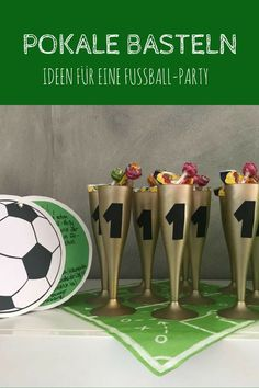 Anzeige: Fußball-Party zur Fußball-WM 2018 (in Kooperation mit OTTO) - Pokale basteln ist nicht schwer. Football Birthday, Sports Birthday, Birthday Games, Birthday Parties, Soccer Cake, Soccer Party, Football Party Decorations, Birthday Decorations, Football Parties