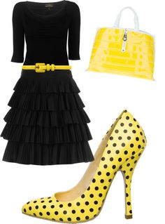 """""""polka dot crazed"""" by csaldana3107 on Polyvore  Love the dress - shoes are a bit much!"""