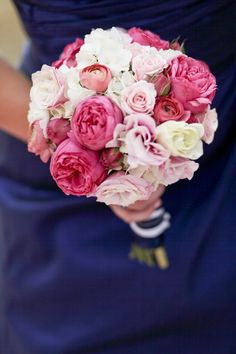 different shades of pinks Wedding Bridesmaid Bouquets, Flower Bouquet Wedding, Bridal Bouquets, Making A Bouquet, Different Shades Of Pink, Big Garden, Prom Pictures, Flower Ideas