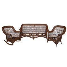screened porch Antique Bar Harbor Wicker Set | From a unique collection of antique and modern living room sets at http://www.1stdibs.com/furniture/seating/living-room-sets/