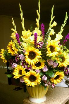 Sunflower arrangement