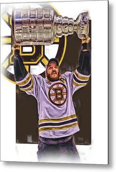 78a359bbd Patrice Bergeron Boston Bruins Oil Art 3 Metal Print by Joe Hamilton