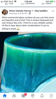 Pottery Designs, Pottery Ideas, Glazes For Pottery, Ceramic Pottery, Ceramic Glaze Recipes, Amaco Glazes, Clay Tools, Ceramics Ideas, Wood Sculpture