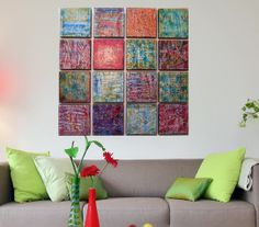 Multi Panel Art   Modern Art  Large Acrylic by PattyEvansArt, $289.00