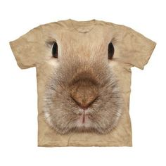 Bunny Face Tee Adult now featured on Fab. So many different animals in adult and youth sizes. Too funny and cute!