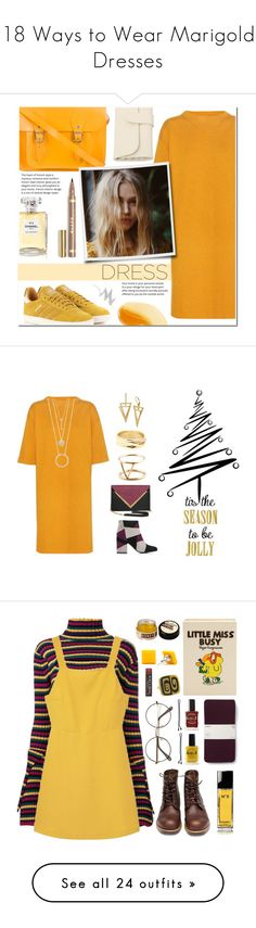 """18 Ways to Wear Marigold Dresses"" by polyvore-editorial ❤ liked on Polyvore featuring waystowear, marigolddresses, Étoile Isabel Marant, adidas Originals, Chanel, NYX, Dareen Hakim, Senso, Kate Spade and EF Collection"