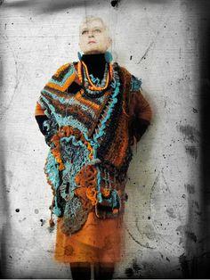 Arty asymmetric wearable art freeform by MizzieMorawez on Etsy, €490.00