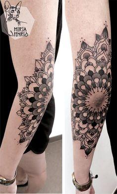 As tatuagens de Mirja Fenris trazem desenhos de simetrias perfeitas, mandalas, animais cheios de simbologia e padrões na pele. Conheça o da tatuadora alemã!