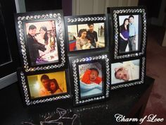 diy bling picture frame!!! I have a collage like this that needs a touch of Jessica...
