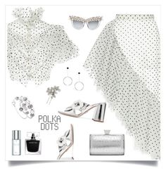 """polkadot 💓"" by tato-eleni ❤ liked on Polyvore featuring Rodarte, Prada, Badgley Mischka and Christian Dior"