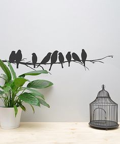 Or these? #zulily! Black Birds on Branch Wall Decal #zulilyfinds