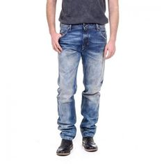 Diesel Mens Denim Jeans KRAYVER Botton Closure Back Front Logo Back Italy Jean #Diesel #BaggyLoose