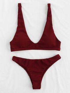 Shop Plunge Neckline Open Back Bikini Set online. SheIn offers Plunge Neckline Open Back Bikini Set & more to fit your fashionable needs.