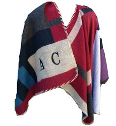 Color Block Monogram Cape
