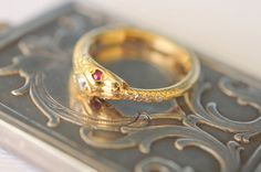 Antique 1900's / 18K Ouroboros / snake diamond and by ErinAntiques, $1240.00